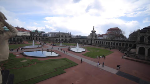 Old Masters Picture Gallery In Dresden stock footage