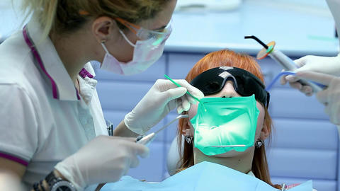 Health Care in Dental Clinic, People Working as Dentist and Medical Assistant, C Footage