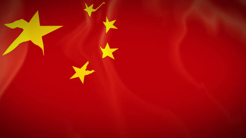 Waving Flag Of China stock footage
