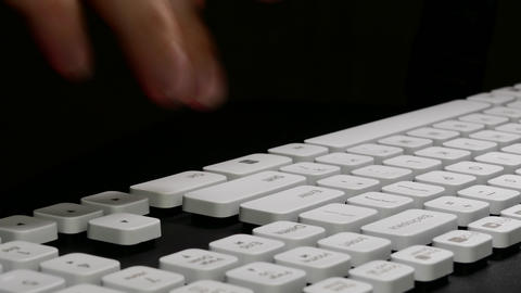 4K Ungraded: Typing On Computer / Keyboard Keys / Enter Key stock footage