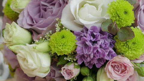Beautiful Bridal Bouquet Close Up Background stock footage