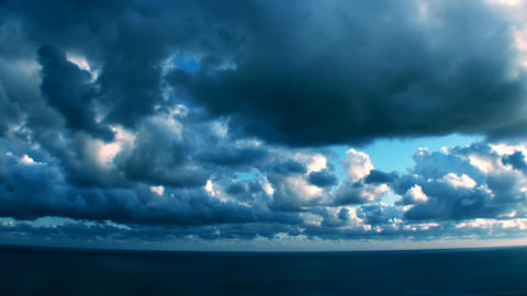 Epic Stormy Timelapse Mysterious Blue Clouds stock footage