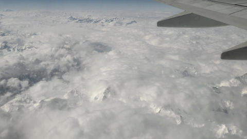 Italian Alps Swiss Mountains Panoramic Aerial View From Sky Airplane stock footage