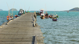 Terminal For Fishery Boat At Chonburi East Of Thailand-Fishing stock footage