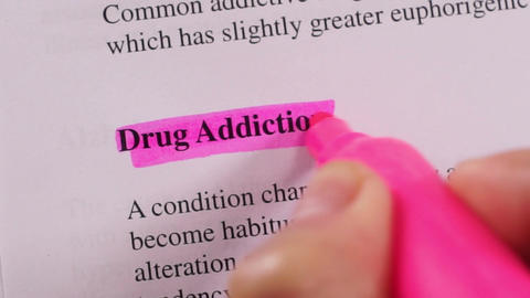 Medical Condition Highlighting Drug Addiction stock footage