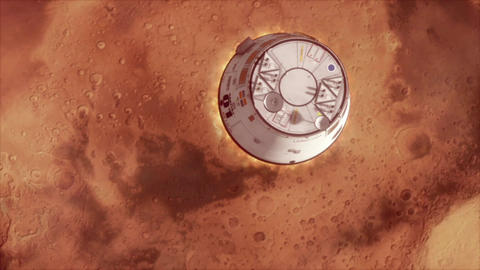 Mars Ship Landing stock footage