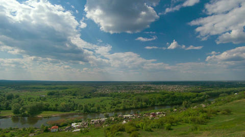Timelapse Of Village In Eastern Ukraine stock footage