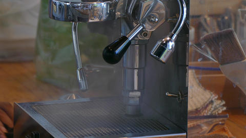Coffee machine brewing hot fresh coffee Footage