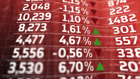 Stock Market Trading Screen stock footage