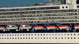 Halifax Nova Scotia New Scotland Canada 011 passenger liner very close Footage
