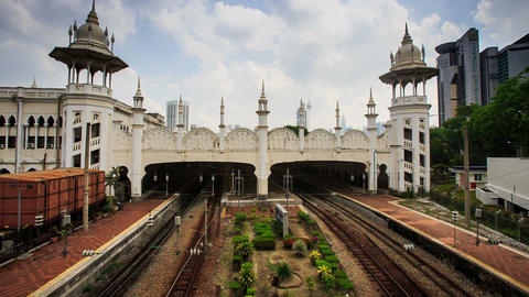 Side View Kuala Lumpur Sentral Railway Station stock footage
