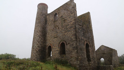 Cornish Tin Mine Cornwall stock footage