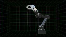 Three-dimensional Robot Arm With Claw stock footage
