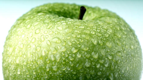 Green Apple With Dew stock footage