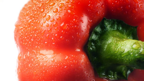 Red Pepper With Dew stock footage