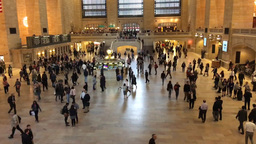 NEW YORK CITY – CIRCA OCTOBER, 2015: Grand Central Terminal Interior, Time Lap stock footage