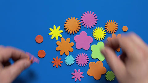 Bright Picture Of Multi-colored Pieces stock footage