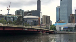 MELBOURNE - NOVEMBER 2015: City Skyline Over Yarra River. Melbourne Attracts 10  stock footage