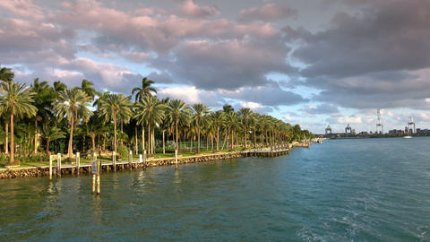 Beautiful Islands Around Miami With Exclusive Celebrity Mansions stock footage