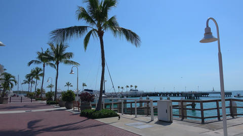 The Pier At Key West On A Sunny Day stock footage