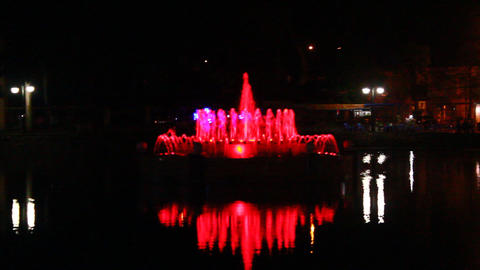 Vivid Colors Of The Fountain stock footage