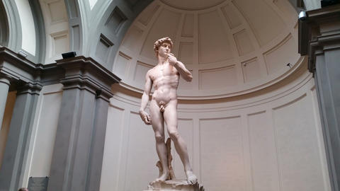 Florence (Firenze), Italy - Michelangelo's Statue Of David stock footage
