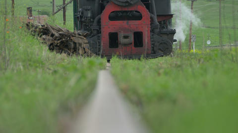 Vintage Steam Locomotive Approaching stock footage