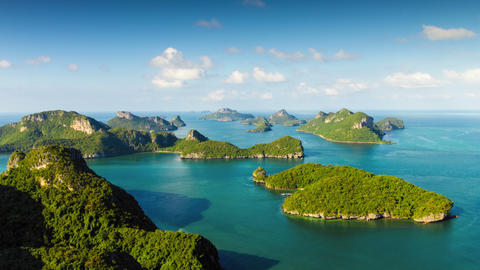 Group Of Islands View From Mountain Time Lapse stock footage