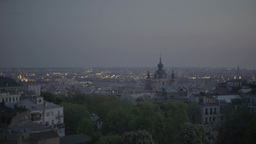 Dawn in Kiev (Kyiv). Ukraine. View of the city Footage