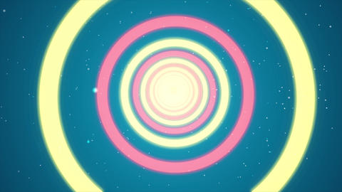 4K Multicolored Light Rings - 4k Motion Graphics Background Loop Animation