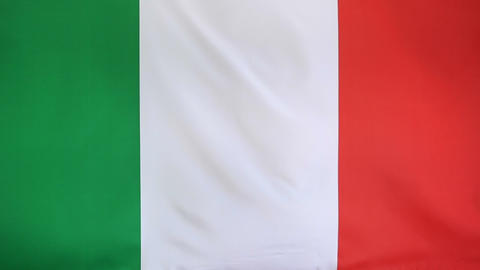 Textile Flag Of Italy In Slow Motion stock footage