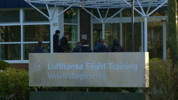 LUFTHANSA FLIGHT SCHOOL TO TRAIN PILOT stock footage