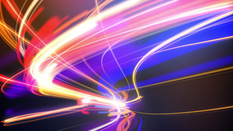 Abstract Night Traffic Loop stock footage