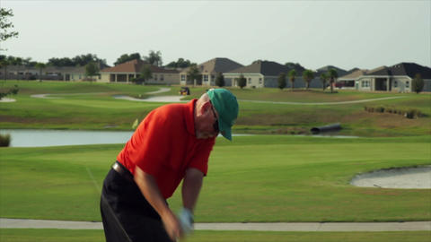 golf hurt back close shot Footage