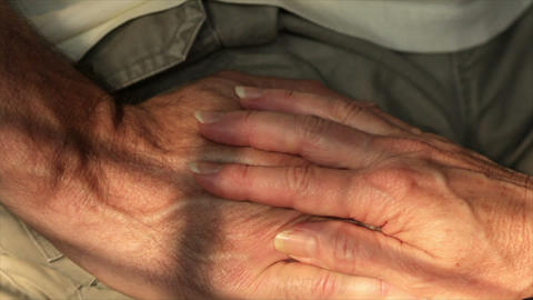 Woman Holds A Mans Hands stock footage