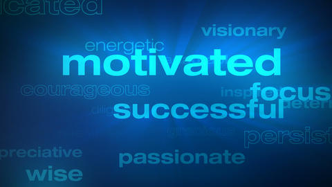 Motivational And Success Words Loop - Photo JPEG stock footage