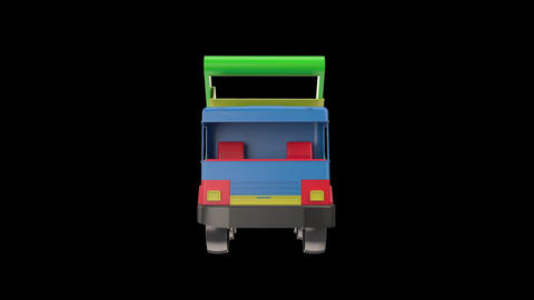 3d Model Plactic Car Toy Truck stock footage