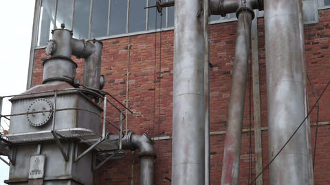 View Of An Old Factory - Industry stock footage