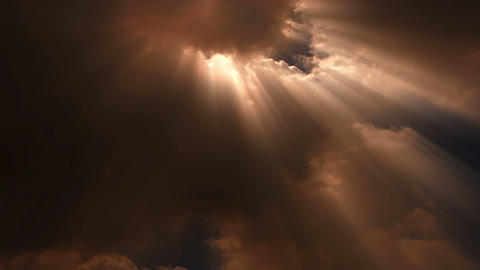 Sun Beams Stream Through Time Lapse Clouds - Cloud FX0101 NTSC, PAL, HD, 4K stock footage