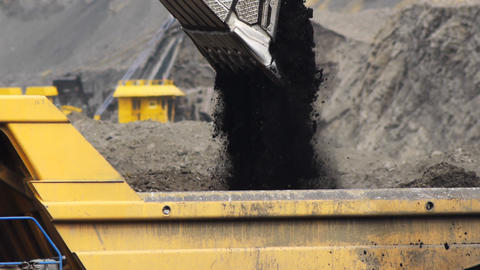 Coal Production stock footage