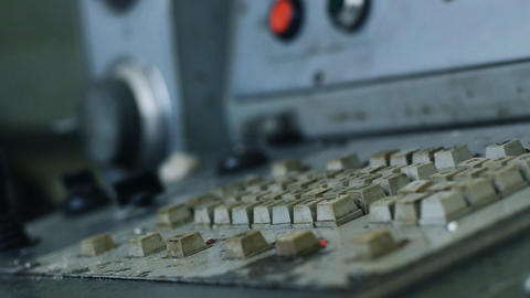 Old Machine Terminal stock footage