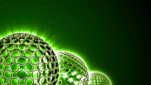 Spherical Elements Background 02 (HD) stock footage