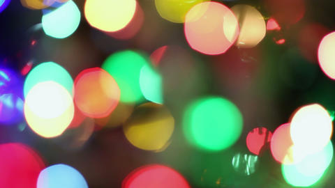 Background Christmas Lights stock footage
