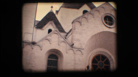 Vintage 8mm. Church in Alberobello Footage