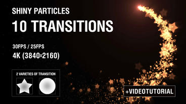 4K Shiny Particles Transition Vol 1 stock footage