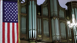 New York 333 Manhattan, The Organ In St. Paul's Chapel, Broadway stock footage