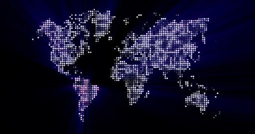 4K Loopable: Digital World Map / Technology Abstract stock footage