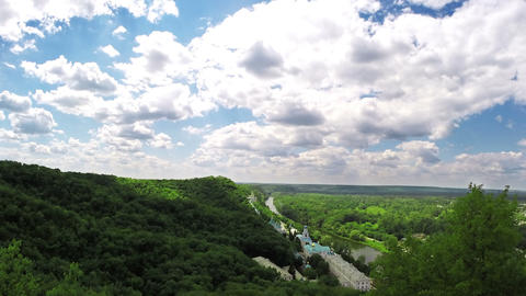 Orthodox Monastery View From Above stock footage