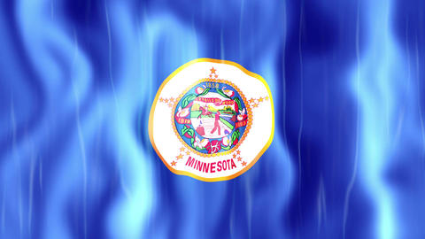 Minnesota State Flag Animation Animation