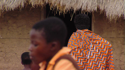 African Family During Dinner Time stock footage
